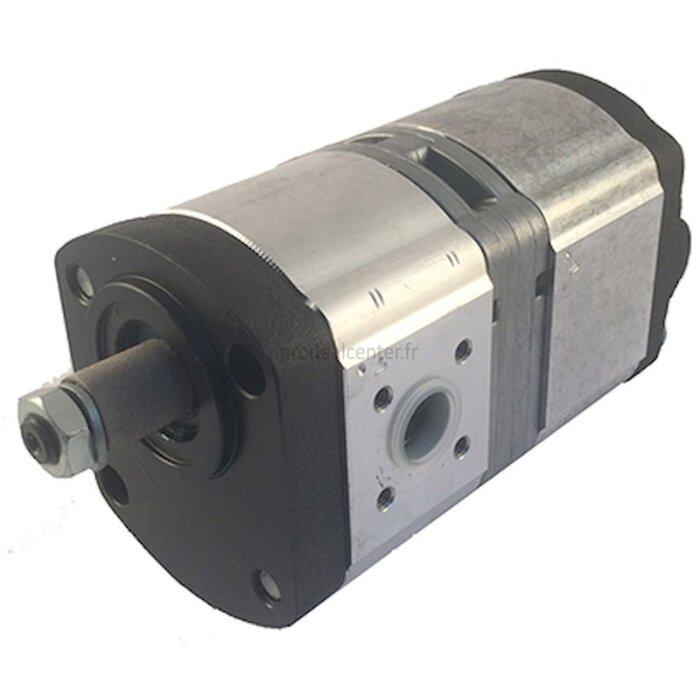 Pompe hydraulique double Bosch 8 + 8 cm3, axe de 15/17 mm pour Case IH 745 S-1773381_copy-30