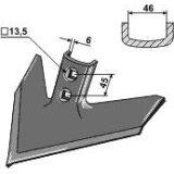 Soc triangulaire adaptable largeur : 240 mm vibroculteur John Deere (N 182040)-122919_copy-20