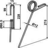 Dent de recouvrement adaptable 374,5 x 12 mm semoir Simba (P08784)-123551_copy-20