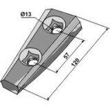 Adaptateur Serie 100 adaptable longueur : 120 mm cultivateur John Deere-122961_copy-20