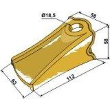 Dent de godet 112 mm x 63 mm diamètre 18,5 mm UniZ (UNI-Z I)-121670_copy-20