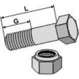 Boulon à tête hexagonale à filet partiel adaptable avec écrou freinage interne 10.9 M10 x 1 x 30 mm boulonnerie Universelle-128855_copy-20