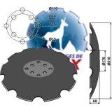 Disque crénelé 8 trous à fond plat adaptable Niaux 510 x 4 mm déchaumeur Agrisem (TCS-DIS-536)-120926_copy-20