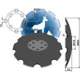 Disque crénelé 8 trous à fond plat adaptable Niaux 460 x 4 mm déchaumeur Agrisem (TCS-DIS-508)-120928_copy-20