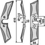 Couteau de herses en acier au bore modèles gauche pour bêches rotatives droit Vogel and Noot 410 x 68 x 10 mm-124172_copy-20