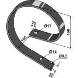 Ressort intérieur de dent adaptable dimensions : 50 x 10 mm cultivateur Farmet Kompaktomat (3000300)-1750281_copy-20