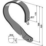 Support de disque droit adaptable 525 x 90 x 13 mm déchaumeur Universel-1793541_copy-20