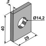 Plaque darrêt de fixation de dent adaptable 40 x 29 x 5 mm décompacteur Maschio (R17622341)-1793555_copy-20