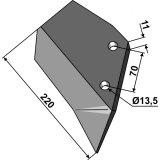 Aileron adaptable gauche 220 mm déchaumeur Dal-Bo (76267)-1750249_copy-20