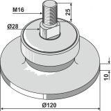 Palier adaptable perçable à la demande 120 x 10 mm déchaumeur Universel-1793518_copy-20