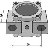 Logement de palier Bugnot pour arbre carré de 40 x 40 mm-1128521_copy-20