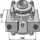 Palier complet Quivogne pour arbre carré de 40 x 40 mm sans entretoises-1128953_copy-20