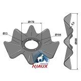 Disque ondulé 4 trous à fond plat adaptable Niaux 500 x 4,5 mm déchaumeur Salford (CT512008)-1128005_copy-20