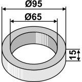 Bague intercalaire diamètre 95 x 65 mm longueur 15 mm-1126885_copy-20