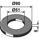 Rondelle de réglage adaptable 90 x 51 x 6 mm rouleau Guttler (75756000)-1794326_copy-20