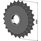 Roue dentée diamètre 500 mm Guttler (75407000)-1128013_copy-20
