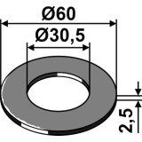 Rondelle de réglage adaptable 60 x 30,5 x 2,5 mm rouleau Universel-1794331_copy-20