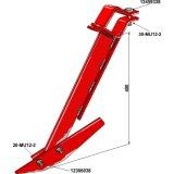 Bras de grattoir complet adaptable 400 mm rouleau à anneaux Universel-1128709_copy-20