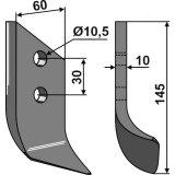 Lame droite adaptable 145 x 60 mm x 10 mm cureuse de fossé Dondi (607045)-1793440_copy-20