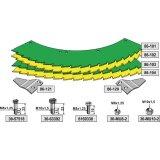 Kit de lames de scie droite / gauche sans revêtement adaptable bec densileuse John Deere M 4500, 445 (LCA78866)-1794244_copy-20