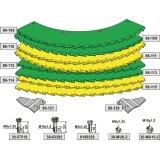 Kit de lames de scie droite et gauche carburées adaptable bec densileuse John Deere M 4500, 445 (LCA79039)-1794246_copy-20