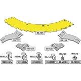 Kit de lame de scie droite / gauche sans revêtement adaptable bec densileuse John Deere M 6008, 360 (LCA785533)-1794256_copy-20