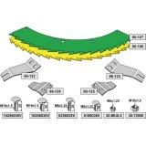 Kit de lames de scie droite et gauche carburées adaptable bec densileuse John Deere M 6008, 360 (LCA790404)-1794258_copy-20