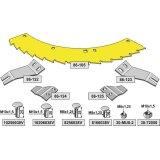 Kit de lame de scie droite / gauche sans revêtement adaptable bec densileuse Kemper 375 (785535)-1794262_copy-20