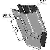 Bride de soc à engrais simple adaptable semoir Becker (200059711)-1794362_copy-20