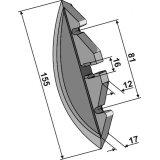 Soc de semoir adaptable 155 x 17 mm semoir Maschio Olimpia, Orietta (G19203660)-1794476_copy-20