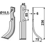 Lame modèle droit longueur 236 mm fraise rotative Adriatica-127209_copy-20