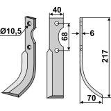Lame modèle droit fraise rotative Benassi S.38-127391_copy-20