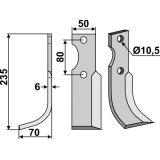 Lame modèle gauche fraise rotative Benassi RL95/12(12-7-127396_copy-20
