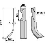 Lame modèle gauche fraise rotative Benassi RL303-127402_copy-20
