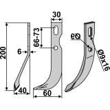 Lame modèle gauche largeur 30 mm fraise rotative Benassi-127433_copy-20