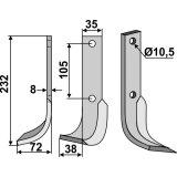 Lame modèle gauche fraise rotative Bonfiglioli-127466_copy-20