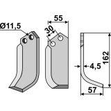 Lame modèle droit fraise rotative Bungartz N 5265-127574_copy-20