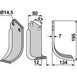 Lame modèle droit fraise rotative Falc 20322D-127627_copy-20