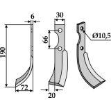 LAME DE FRAISE ROTATIVE MODÈLE GAUCHE GRILLO PINZA S.305 HP7,5-127959_copy-20