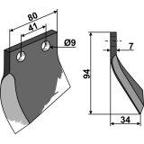 COUTEAU POUR CUREUSE DE FOSSE MODELE GAUCHE OOSTERLAAN G.T.1 LI-126018_copy-20