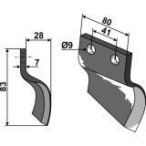 COUTEAU POUR CUREUSE DE FOSSE MODELE DROITE OOSTERLAAN S.T. RE-126023_copy-20