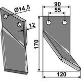 Dent de rotor Ortiflor modèle droit longueur : 170 mm-1127047_copy-20
