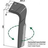 Dent gauche adaptable 300 x 115 x 18 mm herse rotative Lemken S30P (3377035)-131940_copy-20