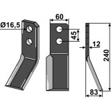 Couteau de rotalabour Valentini modèle droit-1751970_copy-20