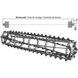 Rouleau cage à barres crénelées adaptable 1200 x 310 mm matériel Universel-122838_copy-20
