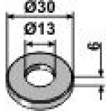 Rondelle din adaptable diamétre intérieur : 13 mm vibroculteur Rabewerk (7349D12A)-121860_copy-20