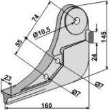 Soc de semoir en métal, modèle Monopill pour machines Accord (850814)-125908_copy-20
