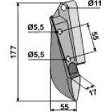 Soc de semoir en métal pour machines Hassia (3378100)-125932_copy-20