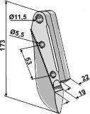 Soc de semoir en métal pour machines Lemken (3378100)-125951_copy-20