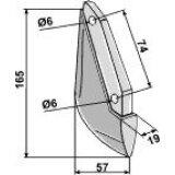 Soc de semoir en métal pour machines Sulky (908435)-125973_copy-20